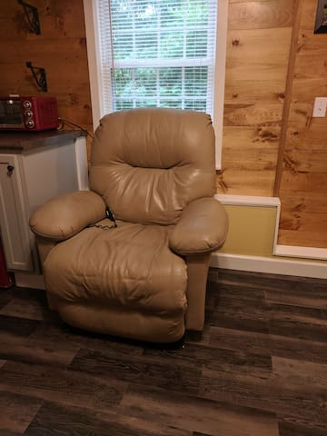 Very comfortable recliner in the sitting area.
