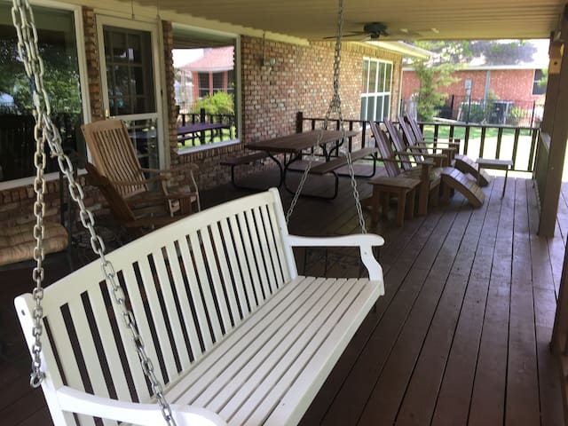 Watch the wildlife in the cove from the porch swing.