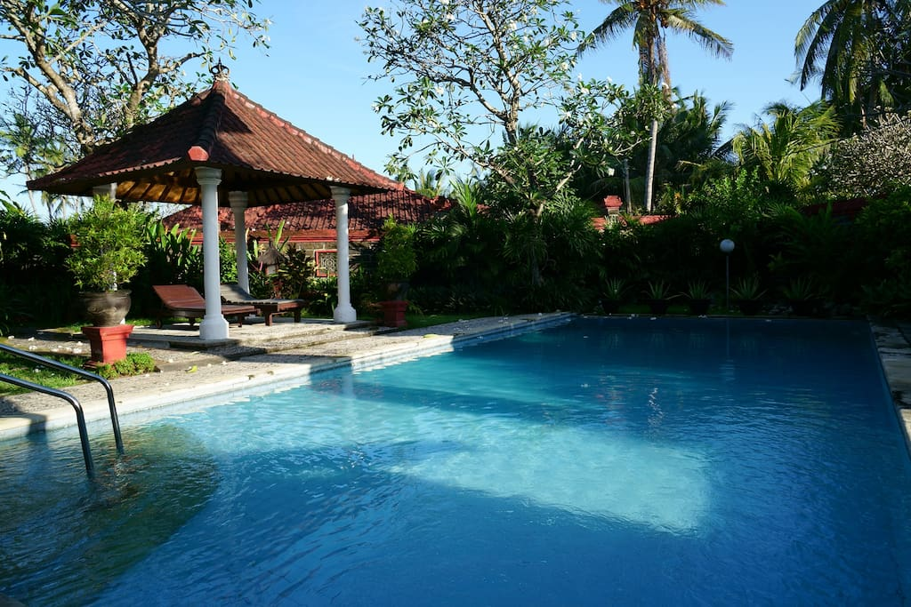 Puri Angsa pool, A chic oasis with tastefully tropical designed pool