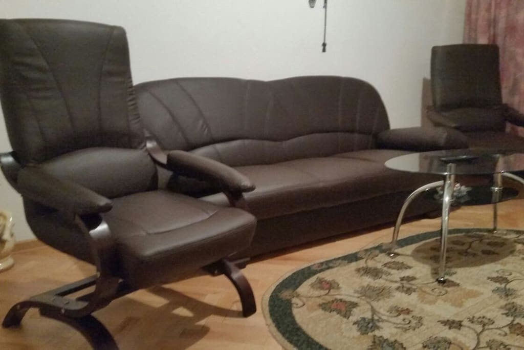Extensible sofa bed for two