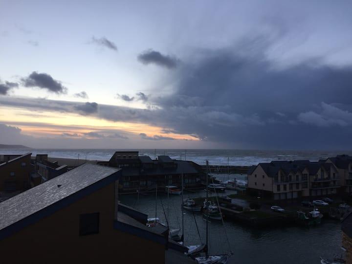 Mini duplex aux Marinas de Deauville - vue mer