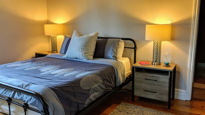 Master bedroom suite in 140 year old Victorian