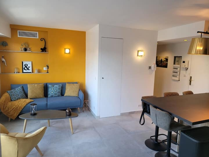 Cannes Center, Renovated Apartment with Balconies, Ideal for Holidays or Congress!