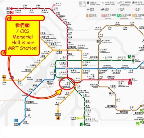 Location of CKS Memorial Hall MRT Station