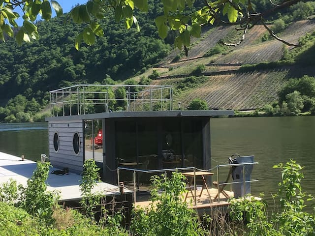 Hausboot auf der Mosel