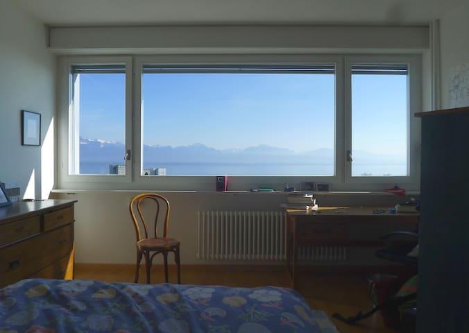 Chambre avec vue sur le Mt Blanc - Lausanne - Apartment