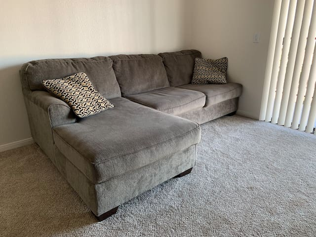 The sofa in living room