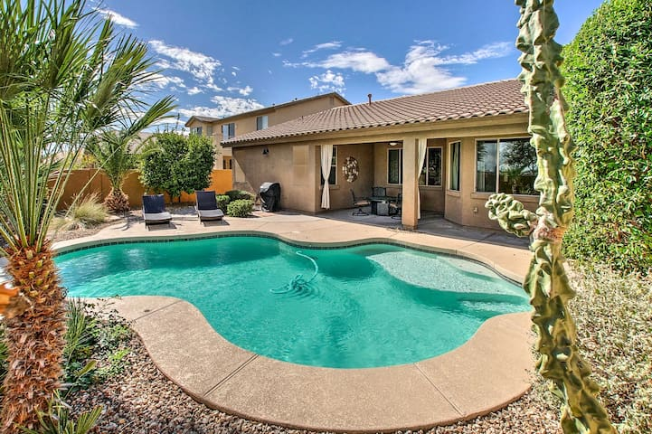 Surprise Home w/ Heated Pool, Gas Grill & Patio!