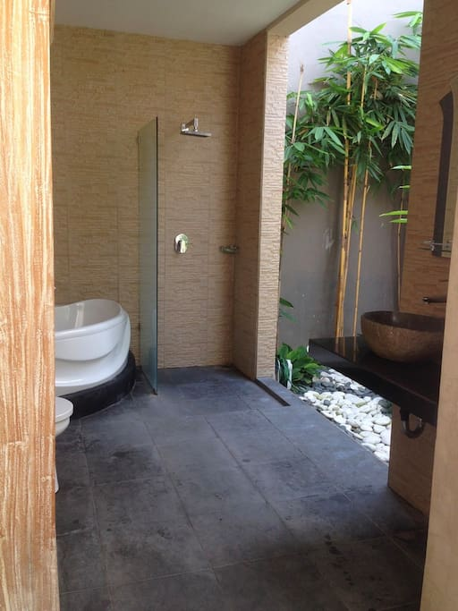 this room completed with open air bathroom