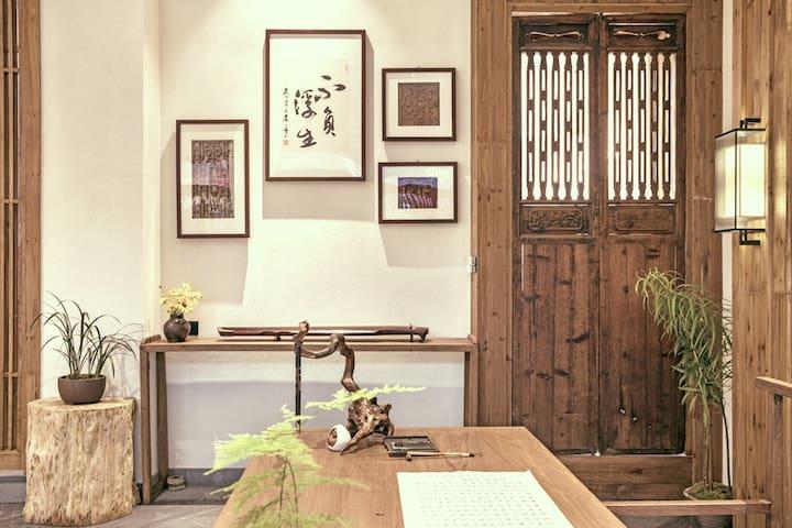 【采薇】新中式文人空间/度假区/笔墨茶香诗意生活 |大床 Double-Room