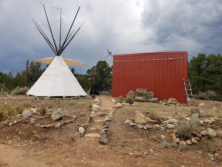 Modern Micro Cabin and Tipi on 6 acres