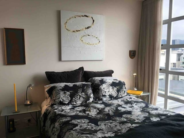 The bedroom also enjoys stunning views, with your choice of a privacy curtain, or a complete black out option.