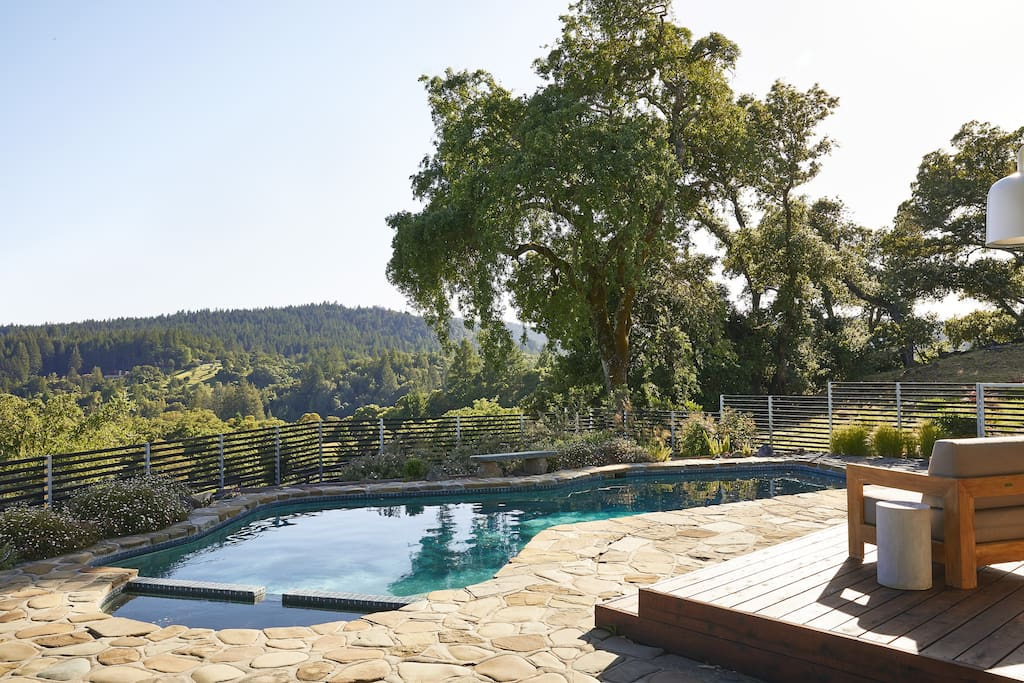 Enjoy the scenery while relaxing at the pool!