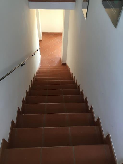 Scala tra il piano terra e il primo piano