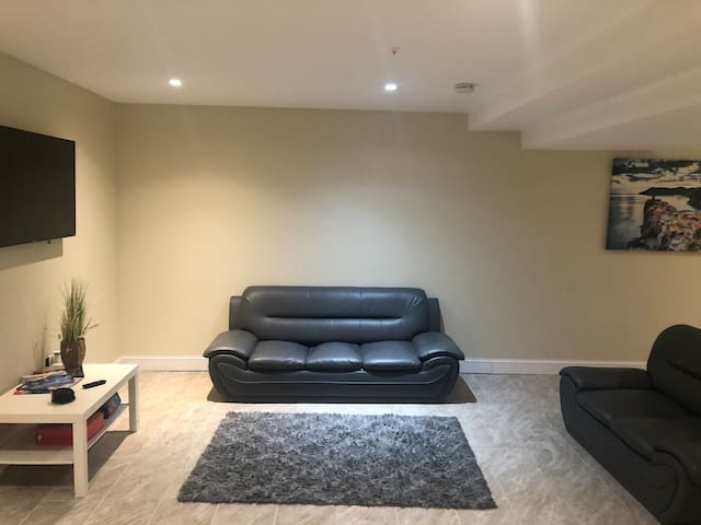 Entire 2 bedroom basement apt and private entrance