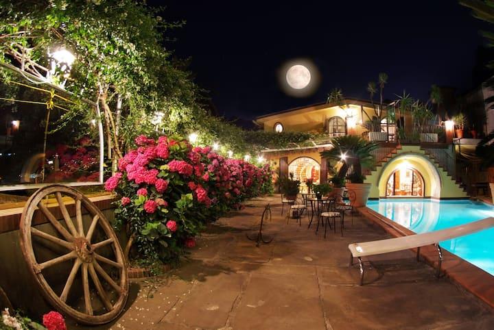 Villa Amalia on Amalfi Coast with Pool, SPA & Park