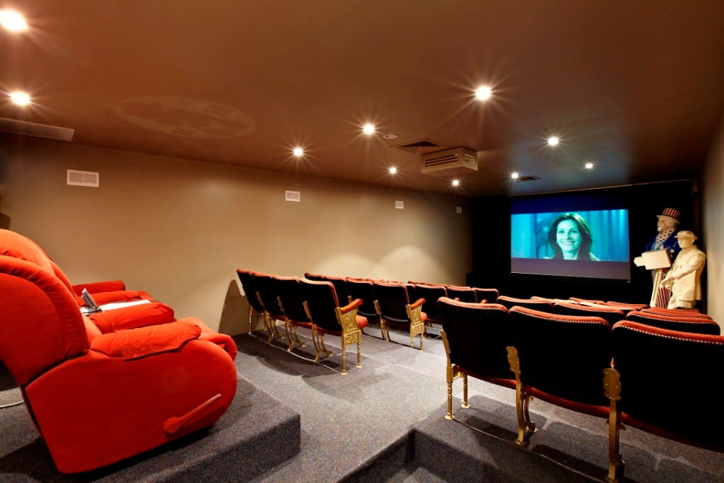 Enjoy a movie in the 36 seat cinema or watch cable TV (Foxtel)