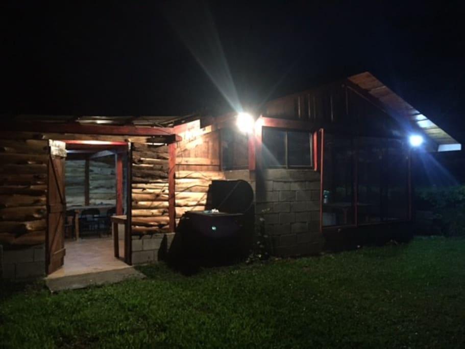En las noches es perfecto para una parrillada