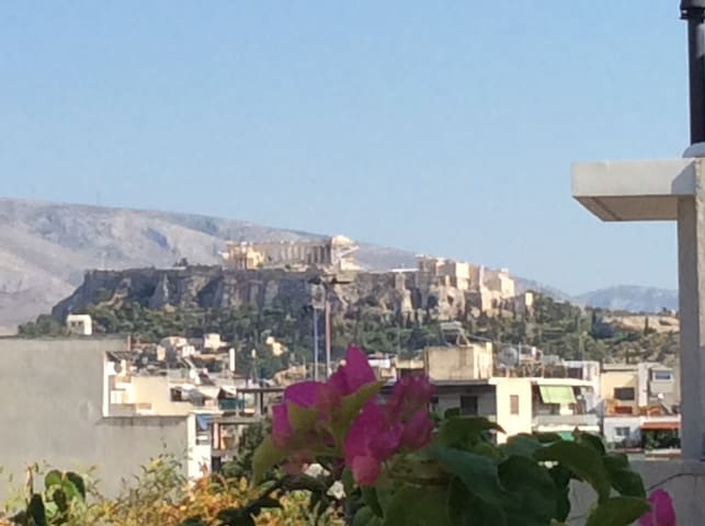 Big veranda view to Acropolis