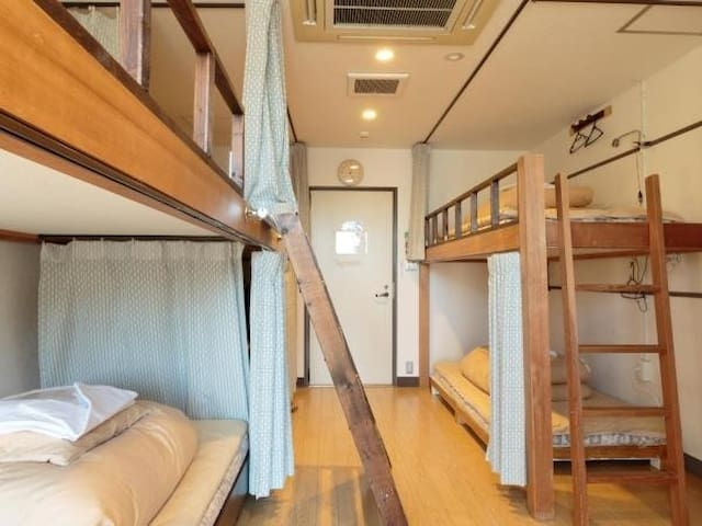 8 Bed Mixed Dorm/Guesthouse 8 min from Kyoto Sta.