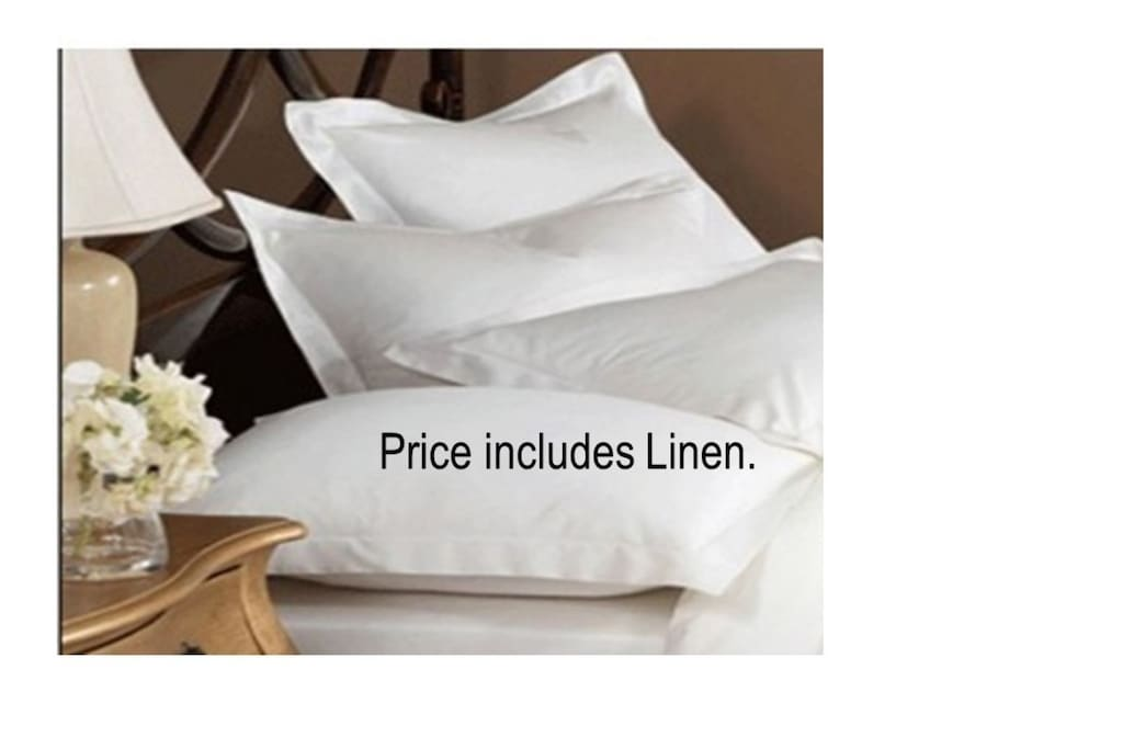 Price includes Linen