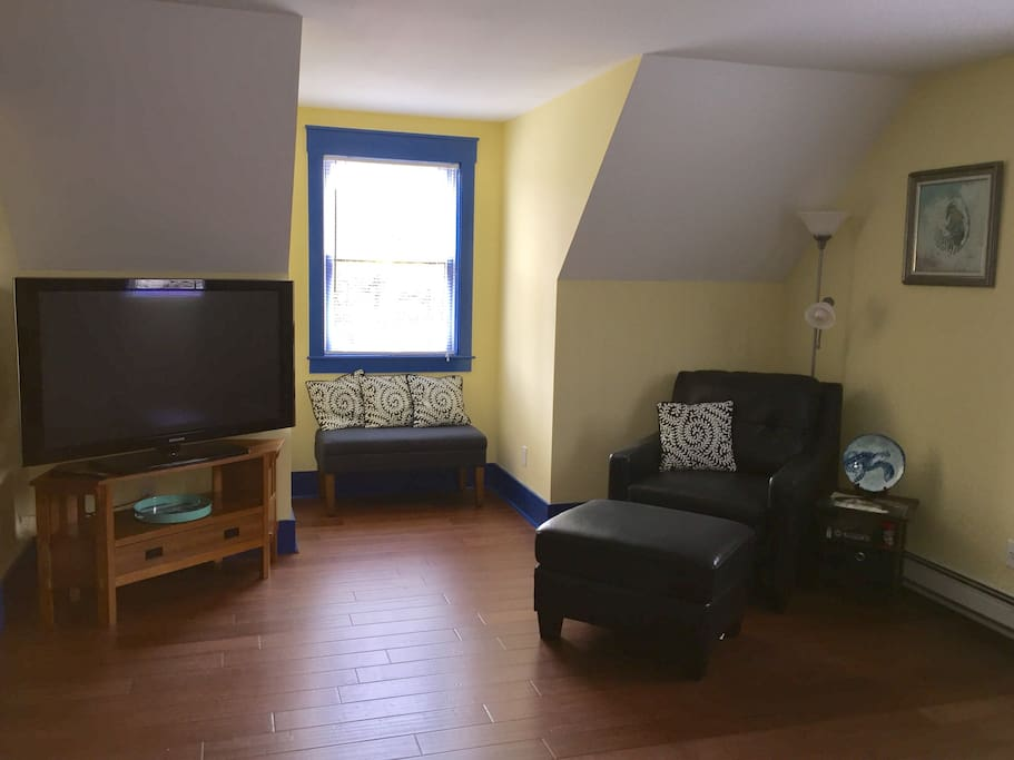 "Second Room with 50"" TV and Comfy Reading Area."