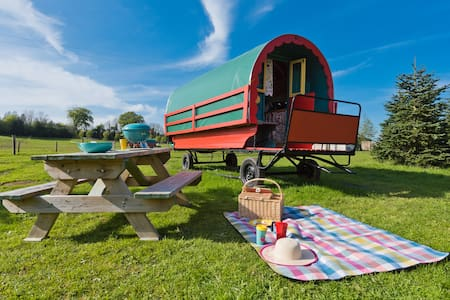 Glamping Gypsy Caravan - BUTTERCUP Avondale
