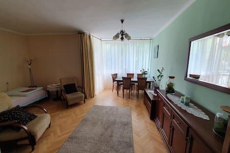 Spacious room with balcony in Oświęcim