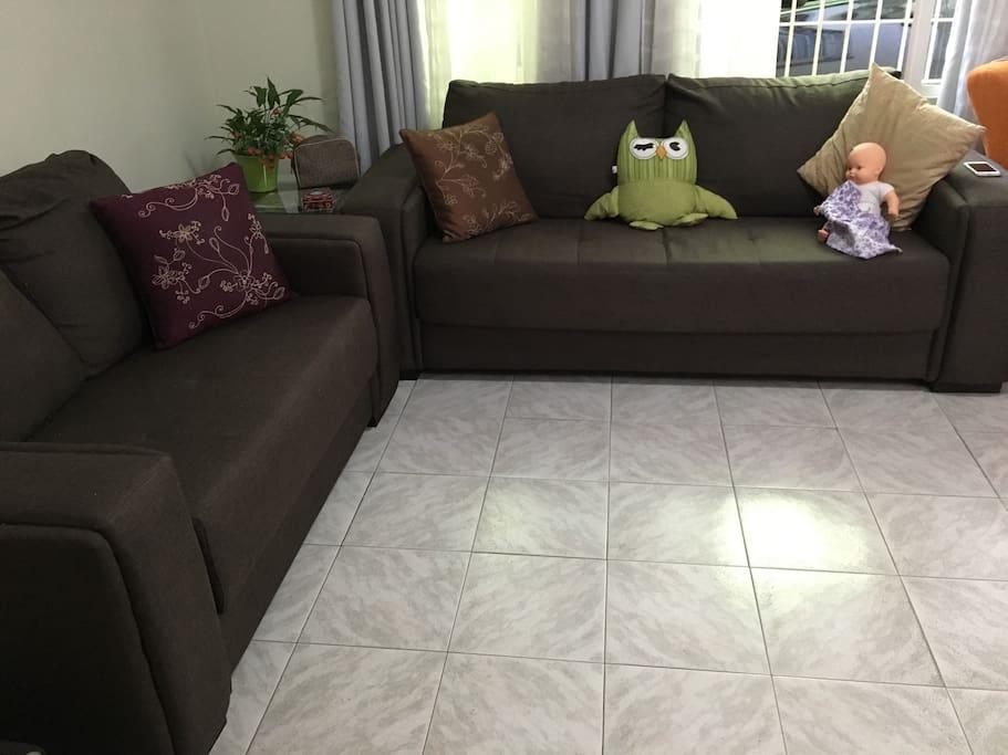 Sala de estar compartilhada