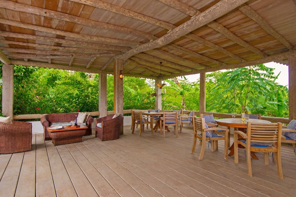 Covered deck area (shared common areas)