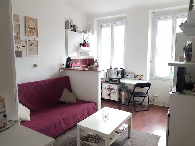 Bel appartement cosy proche Bastille/Gare de Lyon