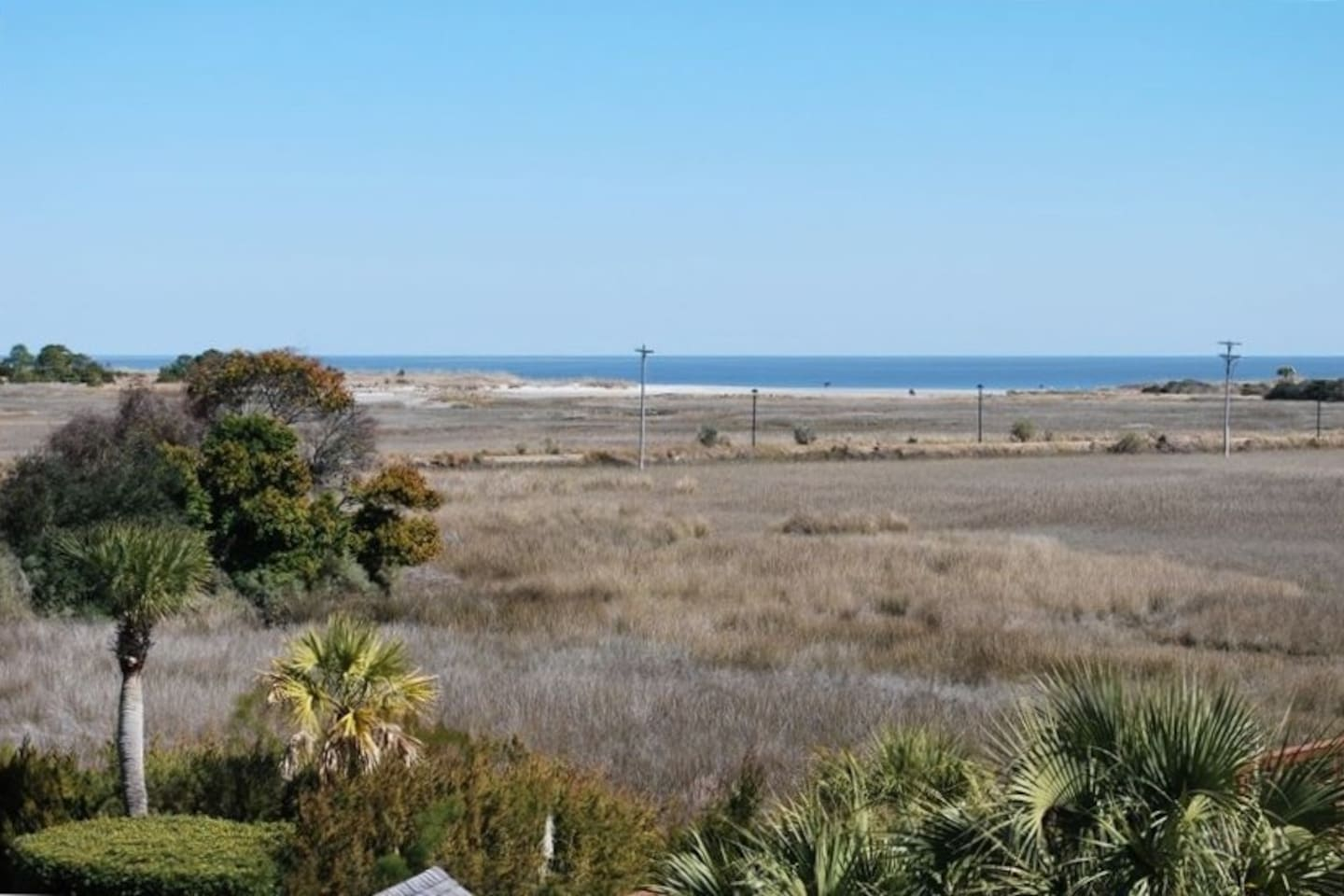Panoramic Ocean View Across Salt Marsh Nature Preserve / View from Balcony