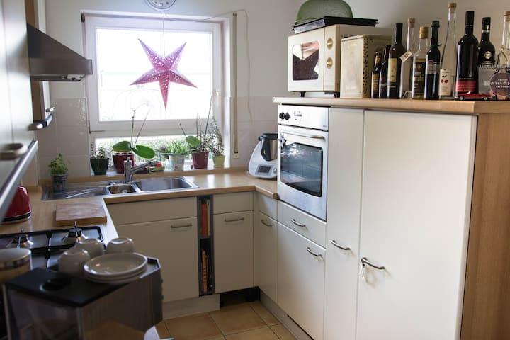 Die  offene Küche inkl. Kaffee/Tee.