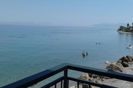 Nothing but infinite sea of the Corinthian gulf!