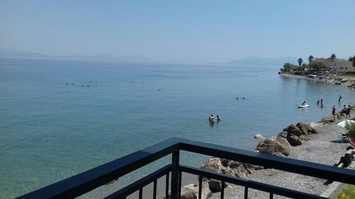 Nothing but infinite sea of the Corinthian gulf!