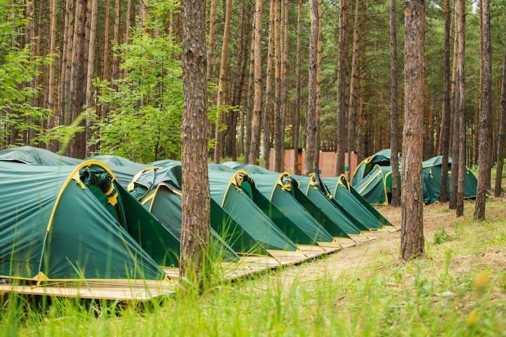 Open air hostel Samara
