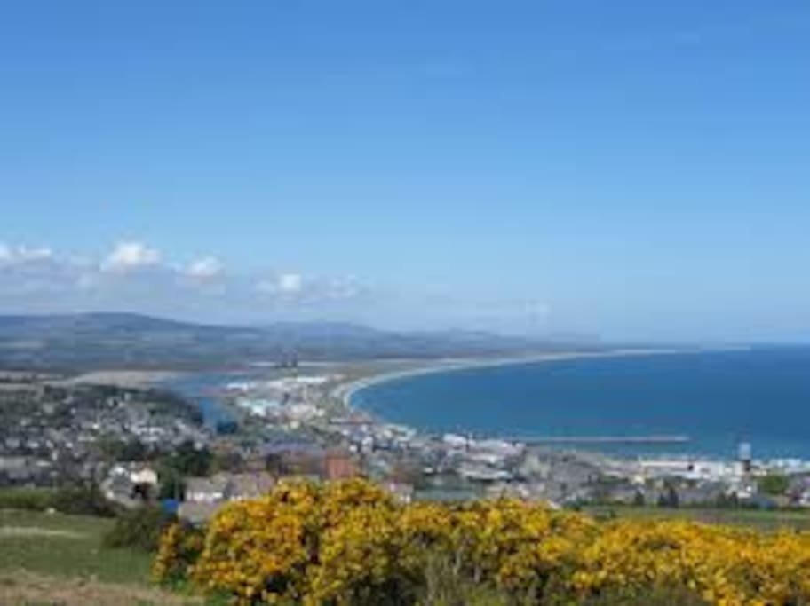 Wicklow Town from the hills