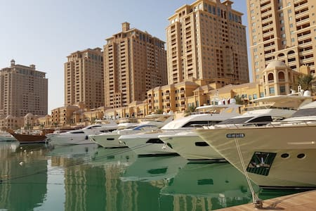 Marina View PEARL QATAR 2 bedroom+large living