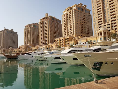 Marina View PEARL QATAR 2 bedroom+large living