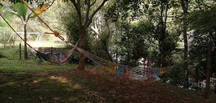 Camping, Rio y Descanso