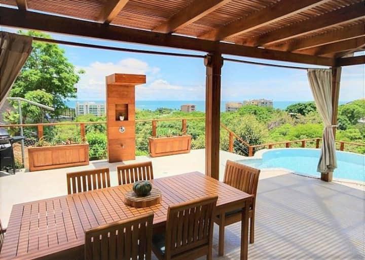 Hilltop Beauty Overlooking Tamarindo Bay!