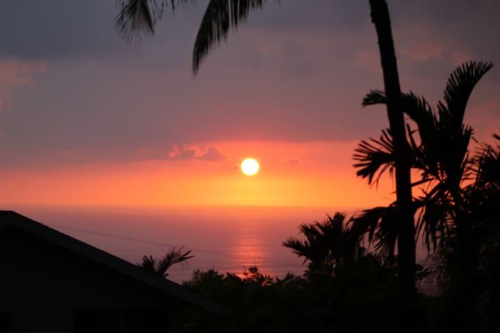Kilohana Hale Ocean View Private Pool for 17 PPL - Kailua-Kona - Casa