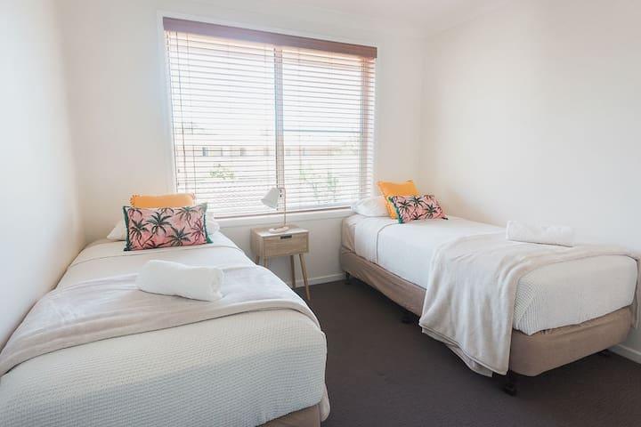 Bedroom 3. Two super comfy single beds