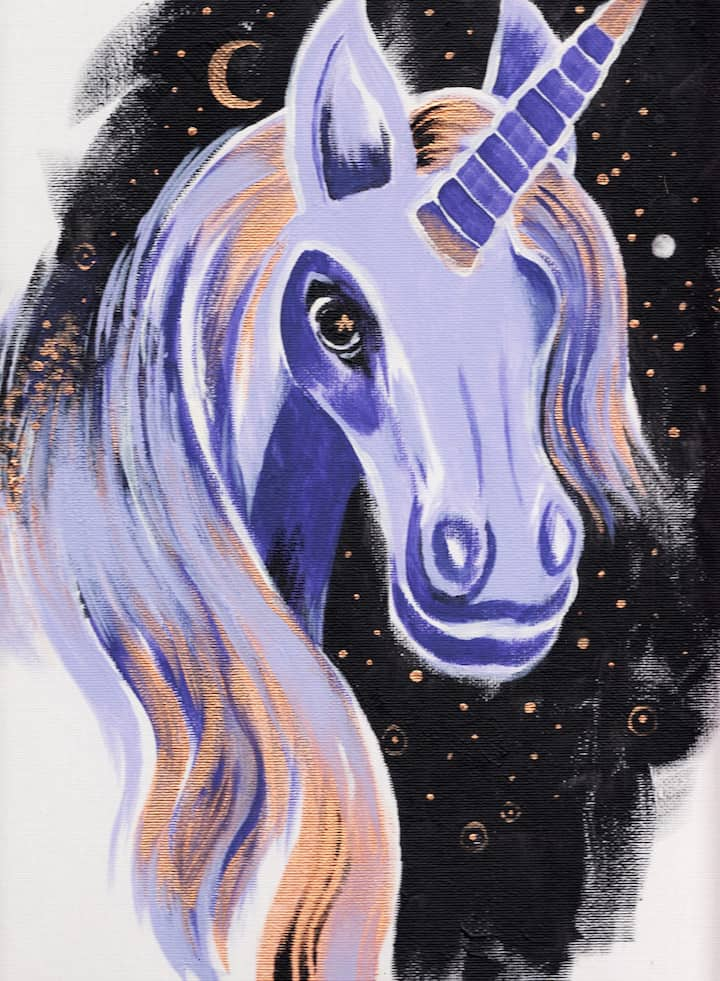 Painting of a unicorn spirit guide
