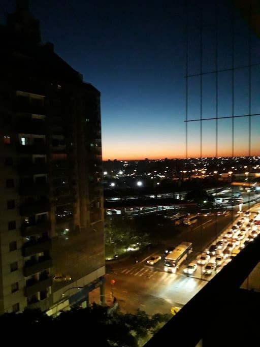 amanecer desde el balcón