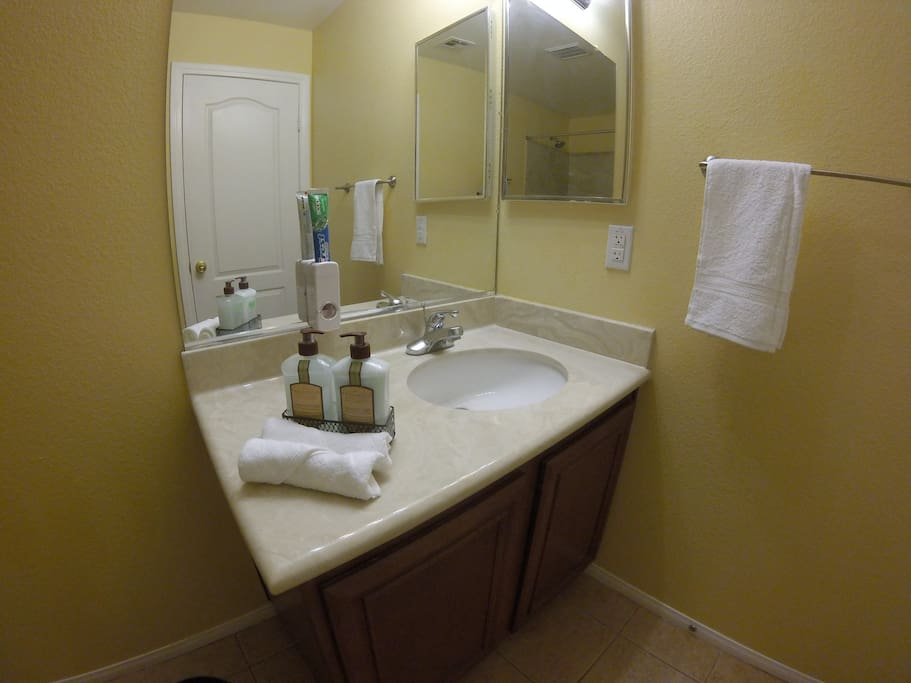Bathroom can be private or shared depending if we have guests from our other listing