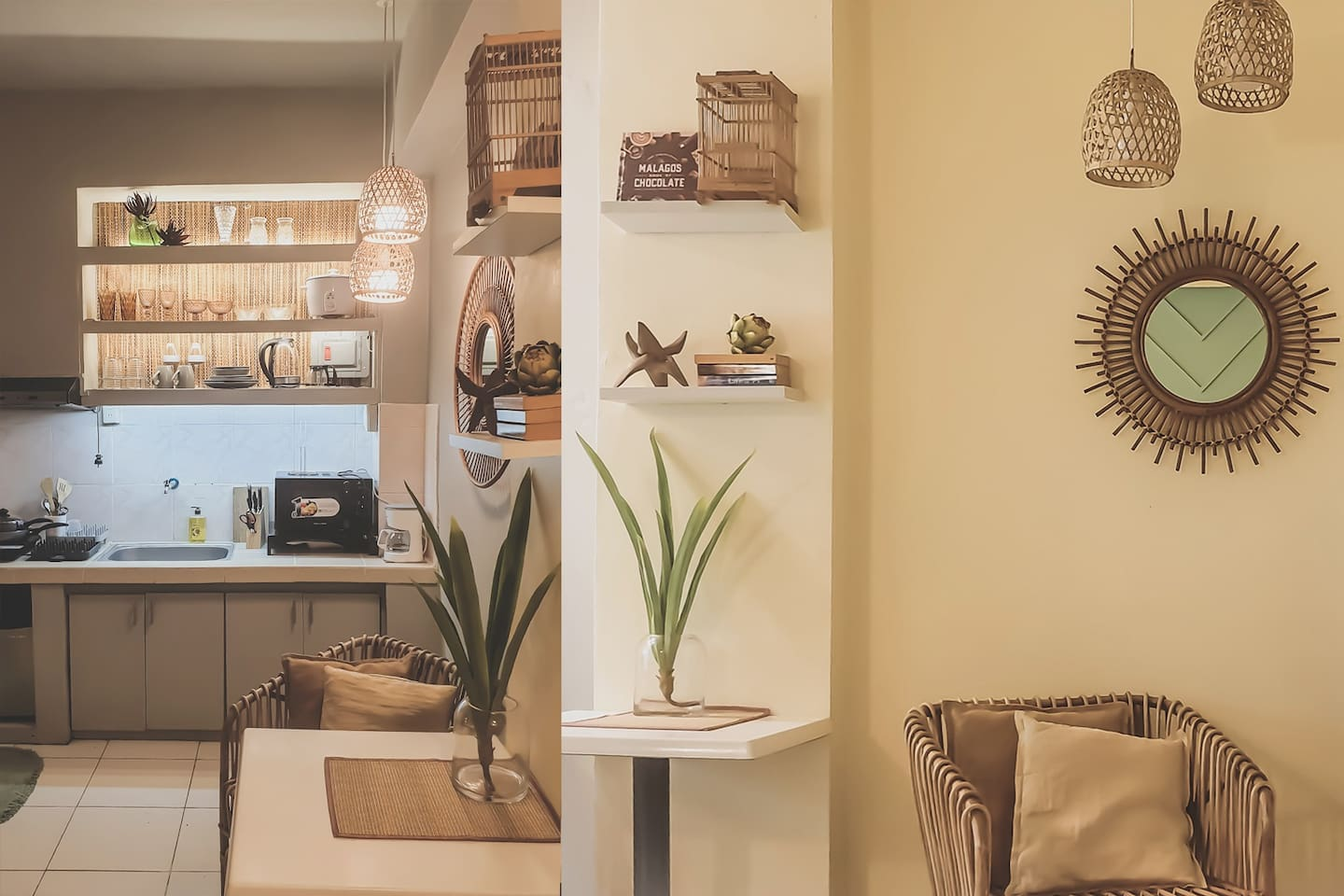Island-inspired interiors for a relaxing stay, right in the heard of Metro Manila.