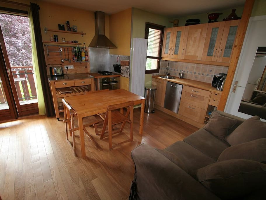 large studio 4 persons annecy lake condominiums for rent in doussard auvergne rh ne alpes. Black Bedroom Furniture Sets. Home Design Ideas