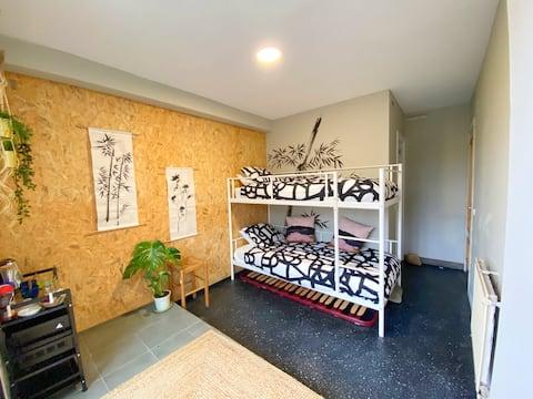 Habitación Doble con Terraza y Baño Privado Madrid