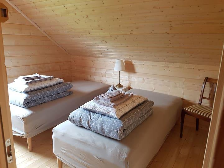 Mýrartunga Guesthouse two single beds